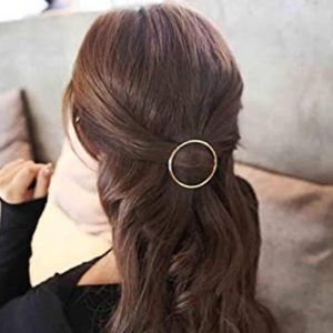 Accessories - 🆕 Geometric Circle Hair Clips Gold Silver Metal
